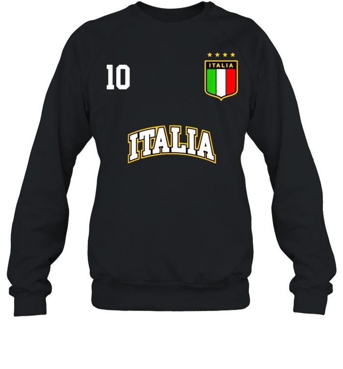 Italia Team Sports Number 10 Italy Soccer Italian Flag  Unisex Sweatshirt