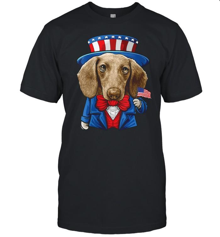 4th of July Dachshund, Dog Bless America Doxie shirt Classic Men's T-shirt