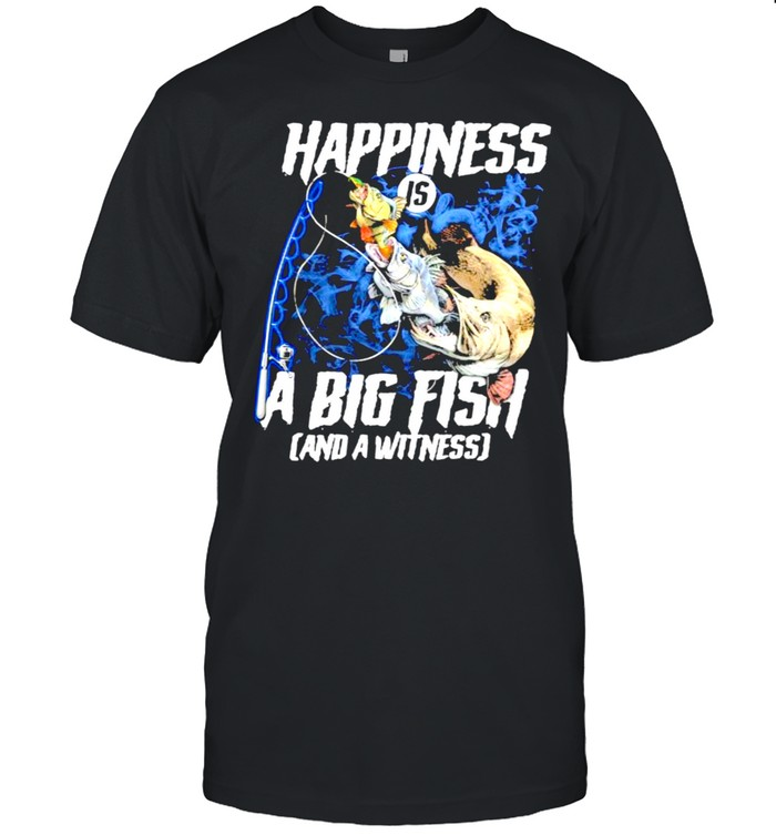 Happiness a big fish and a withness shirt Classic Men's T-shirt