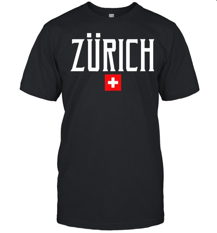 Zurich Switzerland Flag Vintage White Text shirt Classic Men's T-shirt