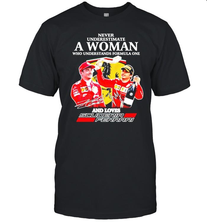 Never underestimate a woman who understands formula one and loves Scuderia Ferrari shirt Classic Men's T-shirt