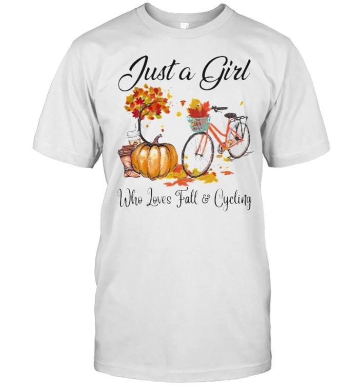 Just a girl who loves fall and cycling pumpkin shirt Classic Men's T-shirt
