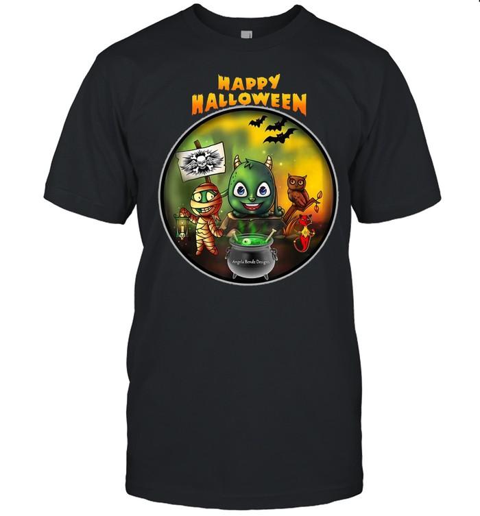 Happy Halloween Angela Bendz Designs  Classic Men's T-shirt