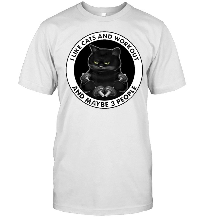 I Like Cats And Workout And Maybe 3 People  Classic Men's T-shirt