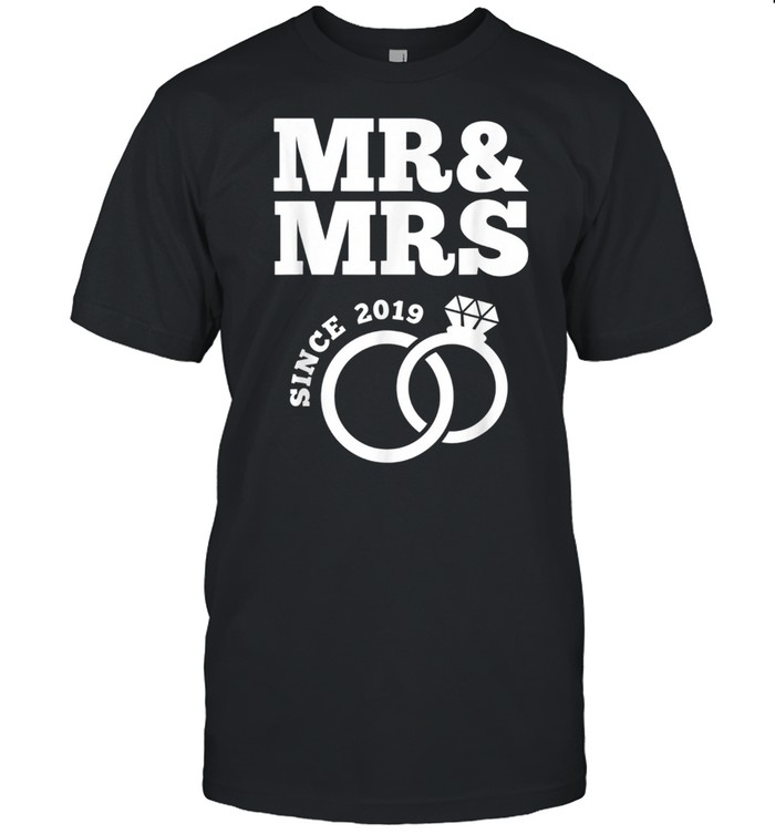 Mr & Mrs Since 2019 Just Married Wedding shirt Classic Men's T-shirt