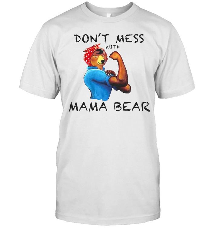 Cute Graphic Don't Mess With Mama Bear T-shirt Classic Men's T-shirt