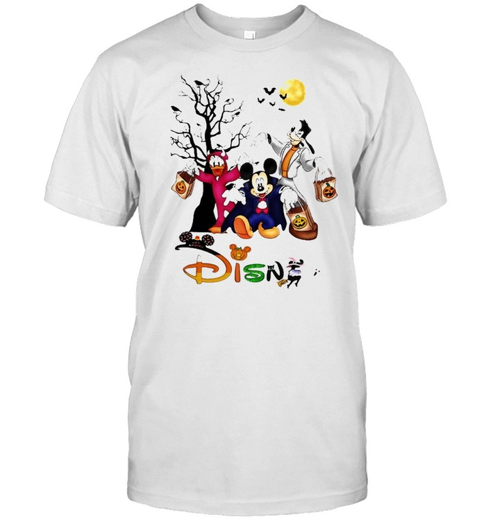 Mickey mouse and Duck and Goofy Disney Happy Halloween shirt Classic Men's T-shirt