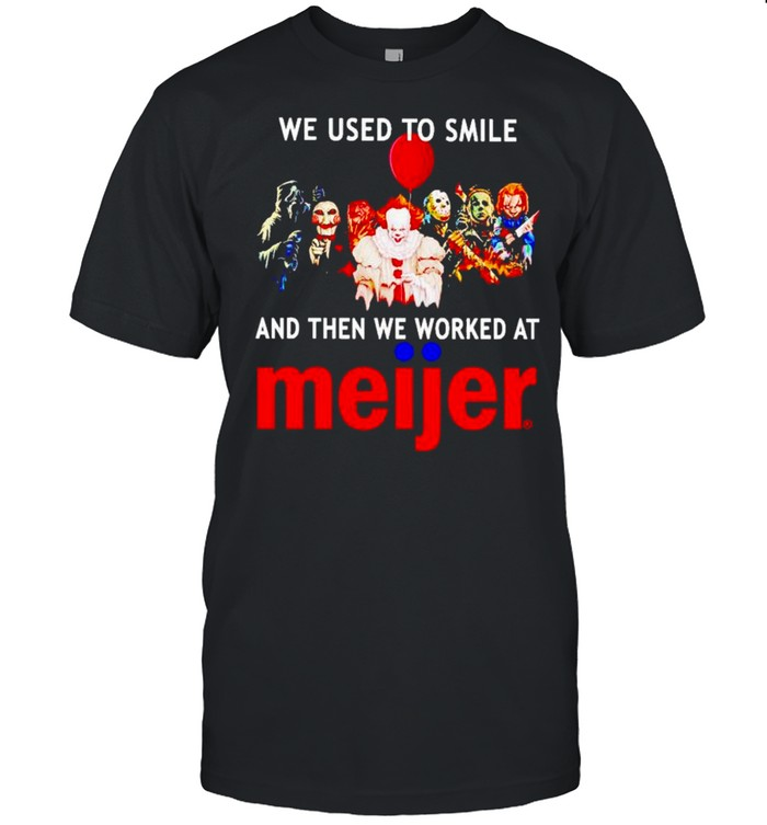 Horror Halloween we used to smile and then we worked at Meijer shirt Classic Men's T-shirt