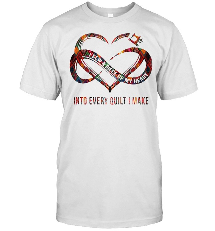 I Sew A Piece Of My Heart Into Every Quilt I Make  Classic Men's T-shirt