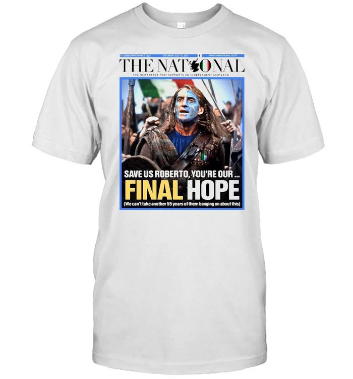 Italian The Nationals Braveheart Final Hope T-shirt Classic Men's T-shirt
