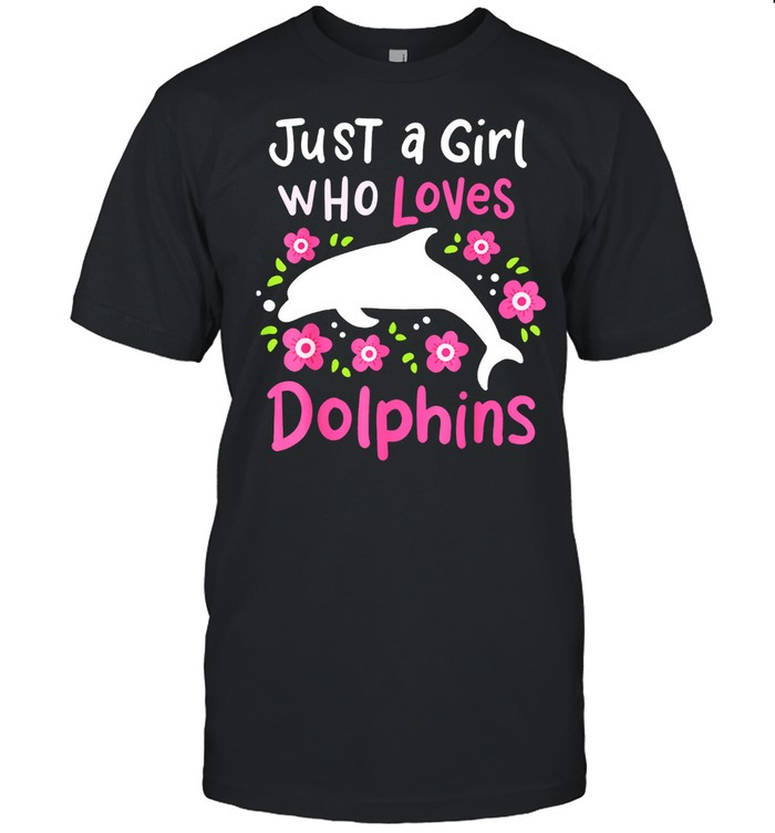 Dolphin Just A Girl Who Loves Dolphins shirt Classic Men's T-shirt