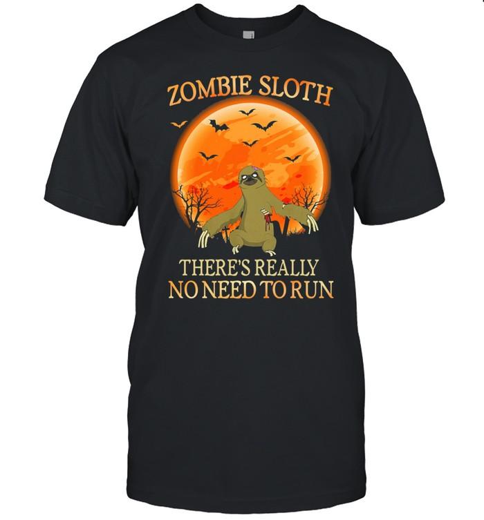 Zombie Sloth theres really no need to run Halloween shirt Classic Men's T-shirt