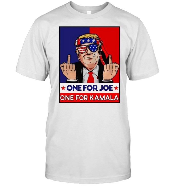 Donald Trump Middle Fingers One For Joe One For Kamala  Classic Men's T-shirt