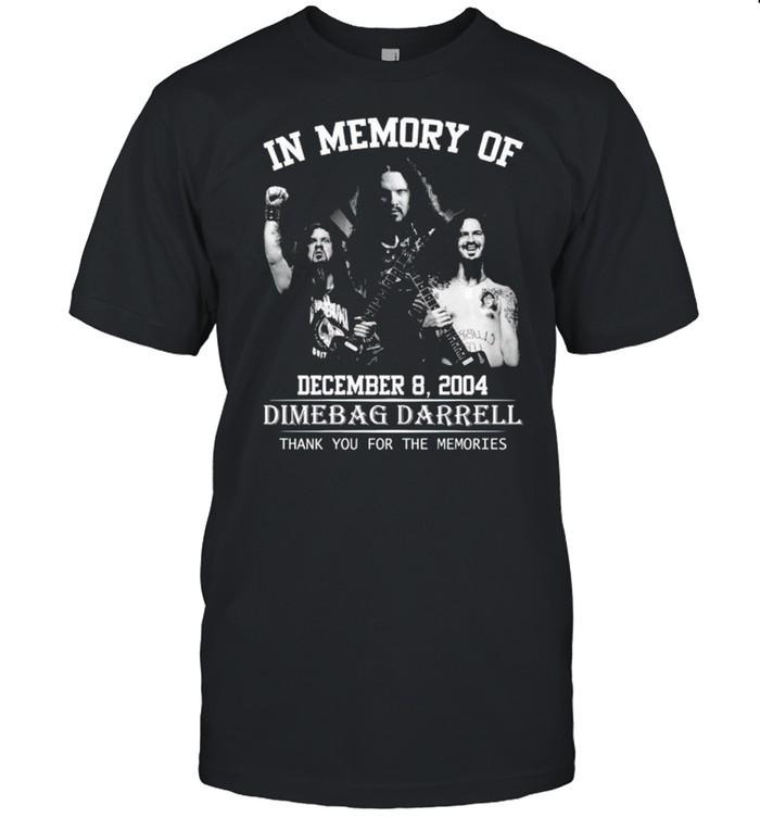 In memory of Dimebag Darrell thank you for the memories shirt Classic Men's T-shirt