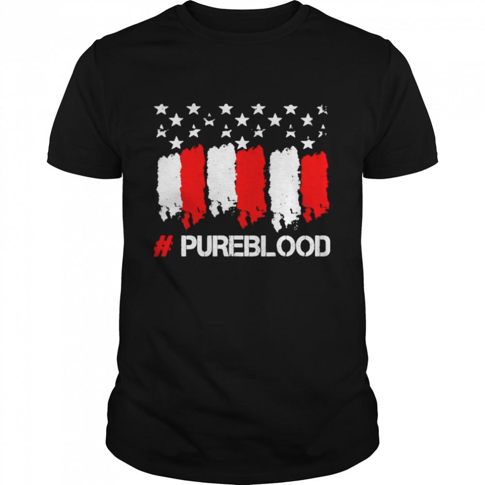 American flag pure blood shirt Classic Men's T-shirt