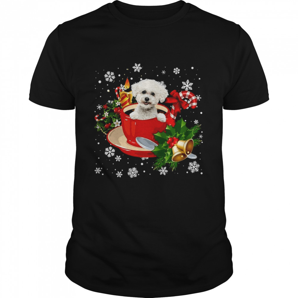 Bichon Frise Christmas Dog  Classic Men's T-shirt