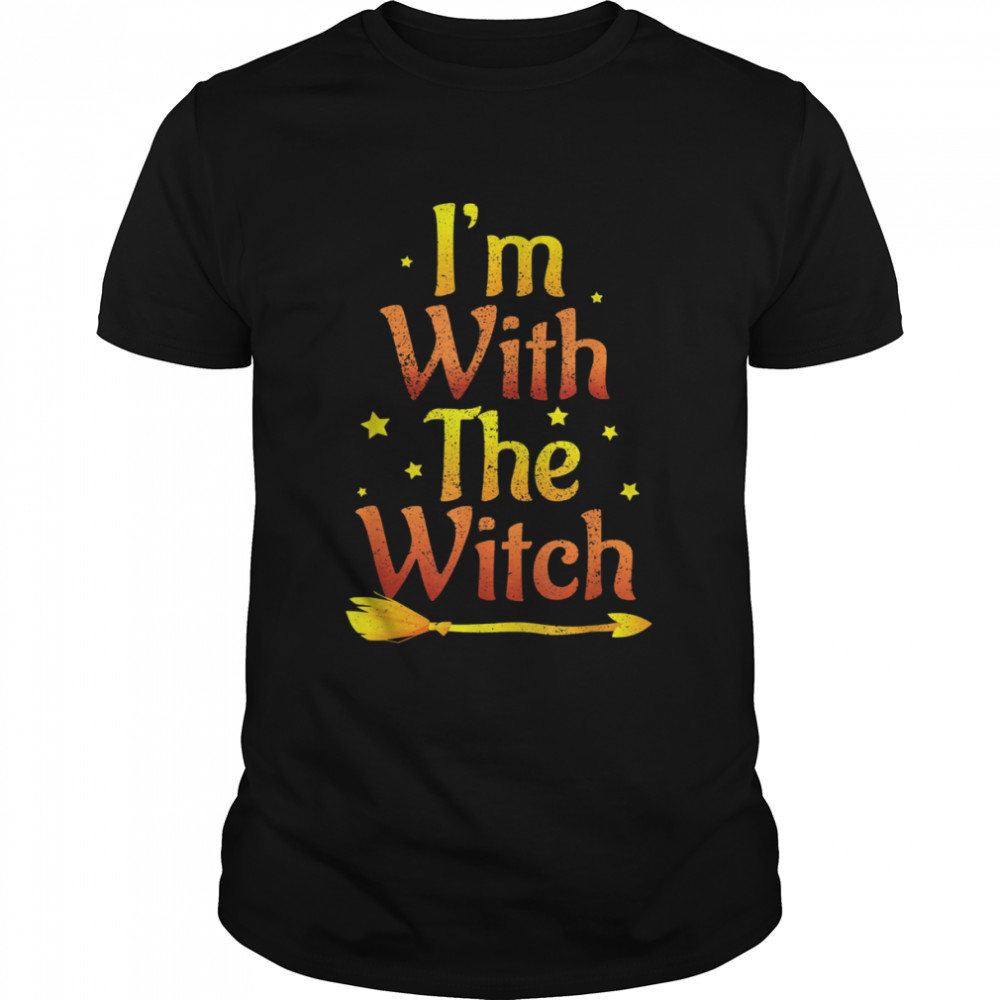 I'm With The Witch Halloween Couple Matching Costume  Classic Men's T-shirt