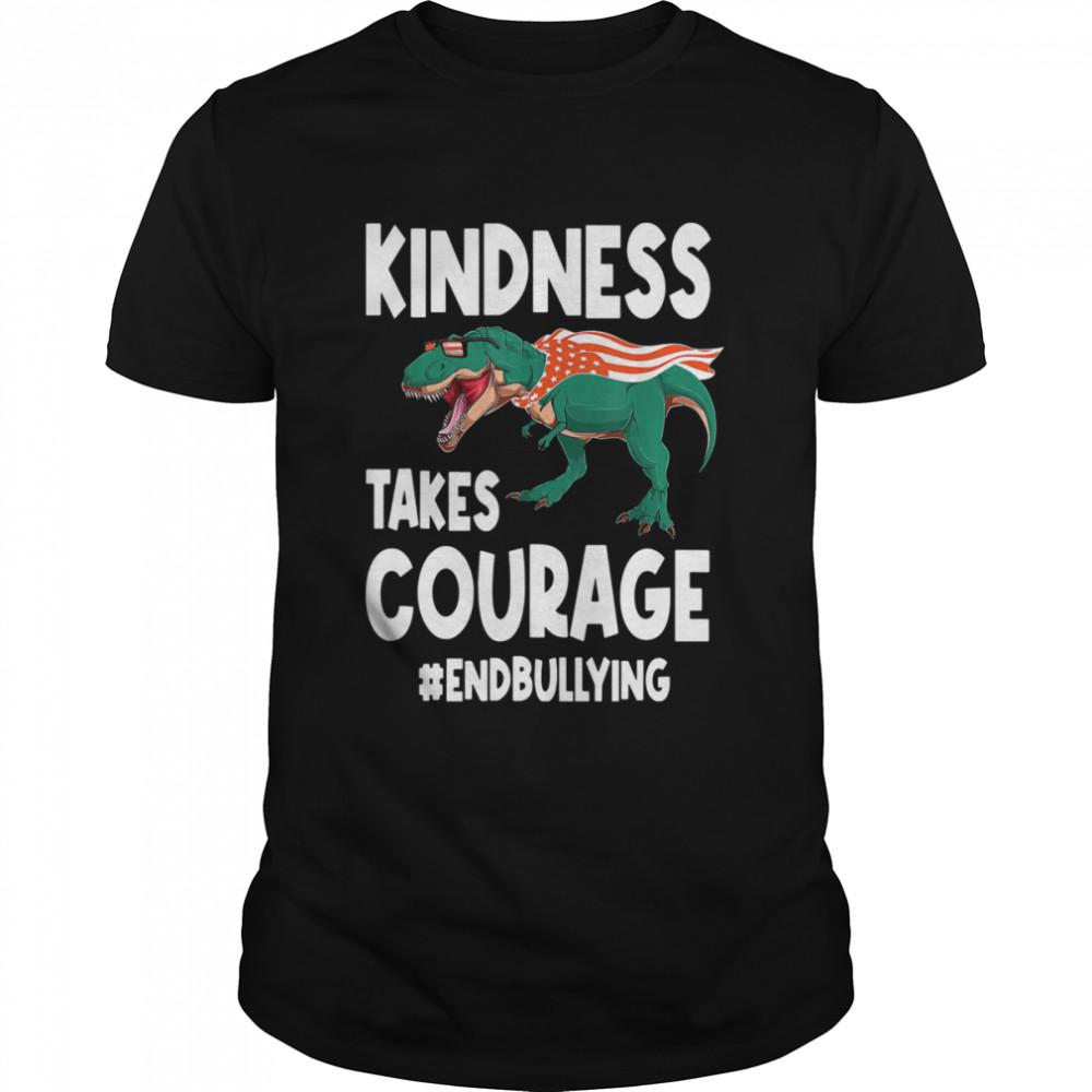 Kindness Takes Courage T Rex Anti Bullying Orange Unity Day  Classic Men's T-shirt