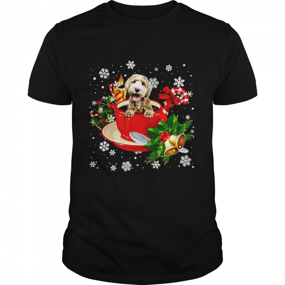 Labradoodle Christmas Dog  Classic Men's T-shirt